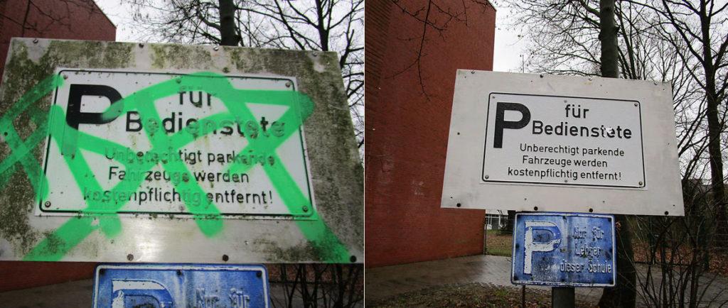Graffitientfernung Bremen Oldenburg Denkmalpflege 04