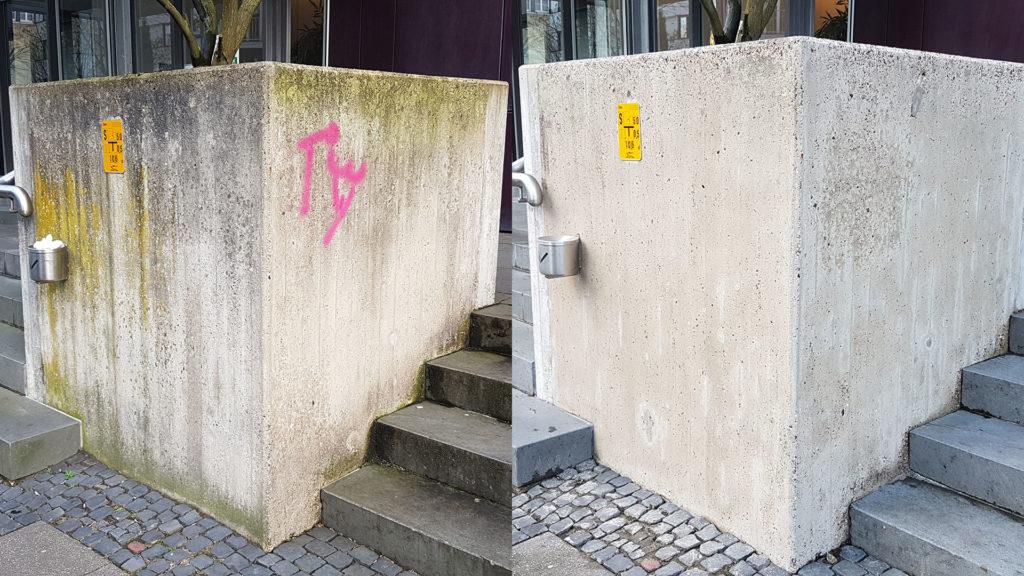 Graffitientfernung Oldenburg Bremen vorher nachher 001
