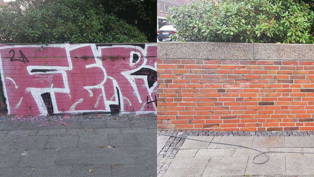 Graffitientfernung Oldenburg Bremen vorher nachher 002